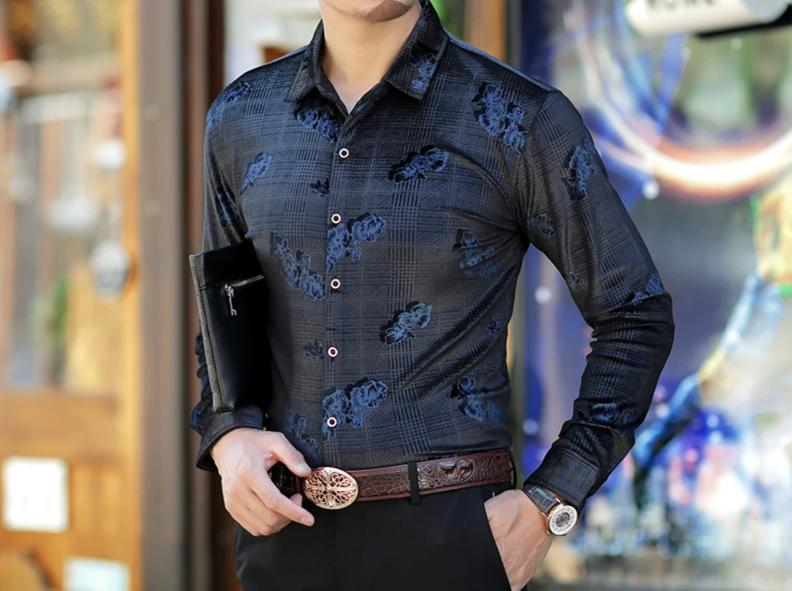 Chango Cucuta Long Sleeve Shirt (Blue) - Pacho Herrera Narcos Shirts