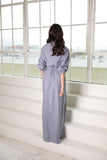 Chambray Pinstripe Maxi shirt dress