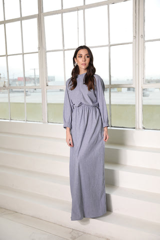 Chambray Linen Stripe Maxi