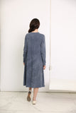 Chambray Ribbed Mineral Wash Dress