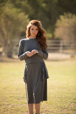 Charcoal Versatile Ribbed Set