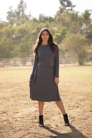 Gray Versatile Ribbed Set