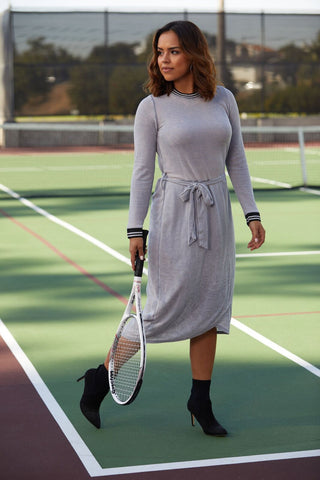 Heather Athletic Wrap Dress