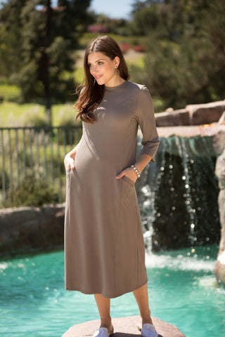 Sand Pocket Dress (Nursing Friendly)