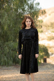 Black Snakeskin Velvet Dress