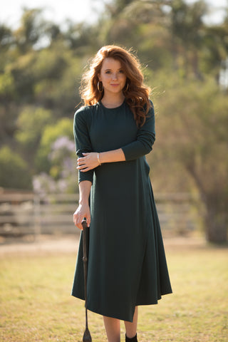 Hunter Ribbed Overlay Dress