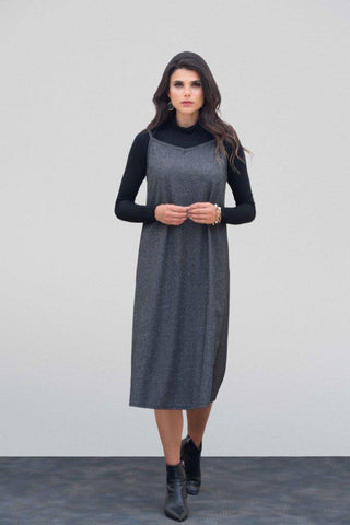 Charcoal Chevron Cami Dress
