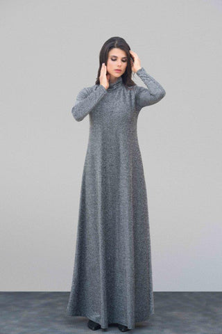 Lurex Turtleneck Maxi