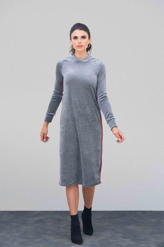 Velour Hoodie Sport Dress