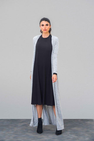 Heather Vented Maxi Cardigan