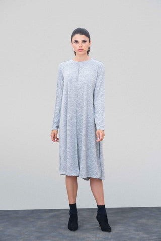 Heather Raw Edge Sweater Dress