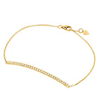 14k Pave Diamond Horizontal Bar Bracelet