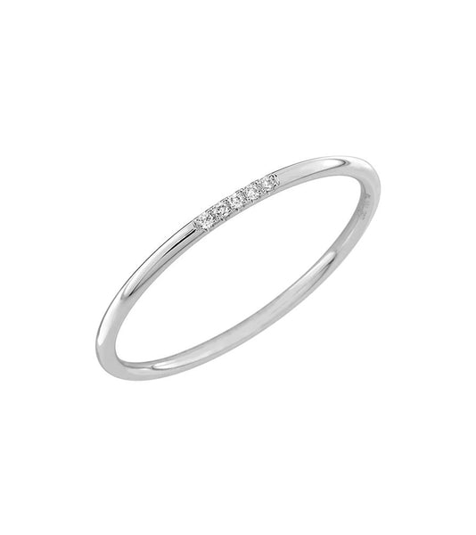 14k Five Diamond Ring