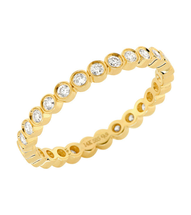 14k Bezel Set Diamond Eternity Band