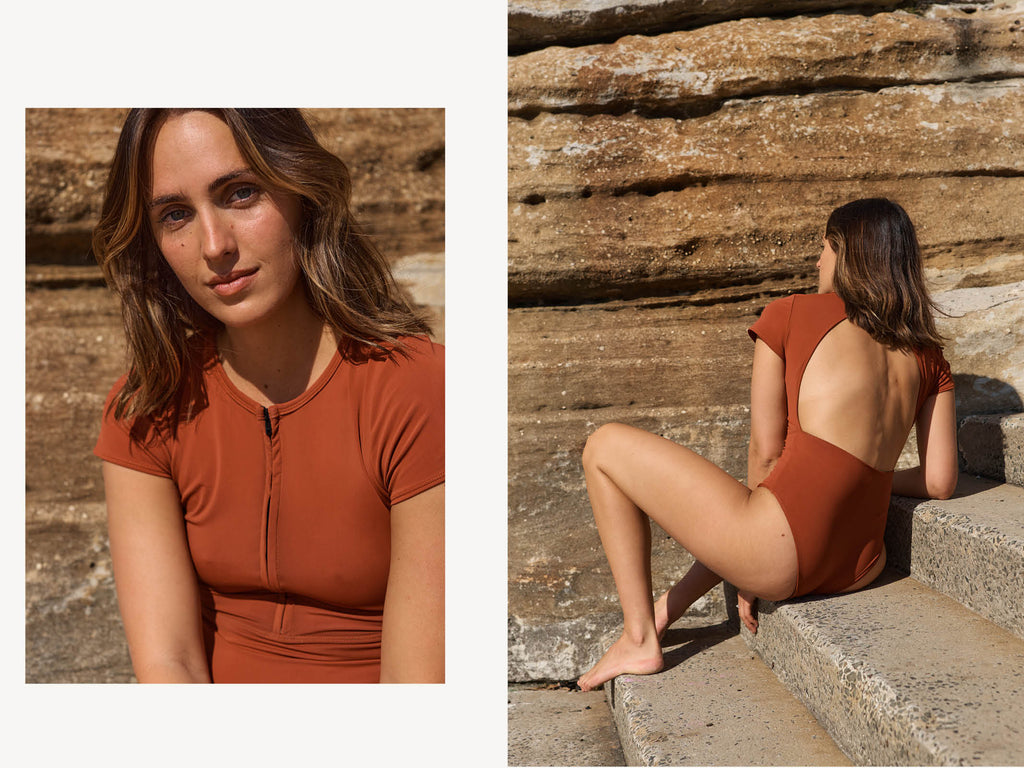 womens clay surf suit