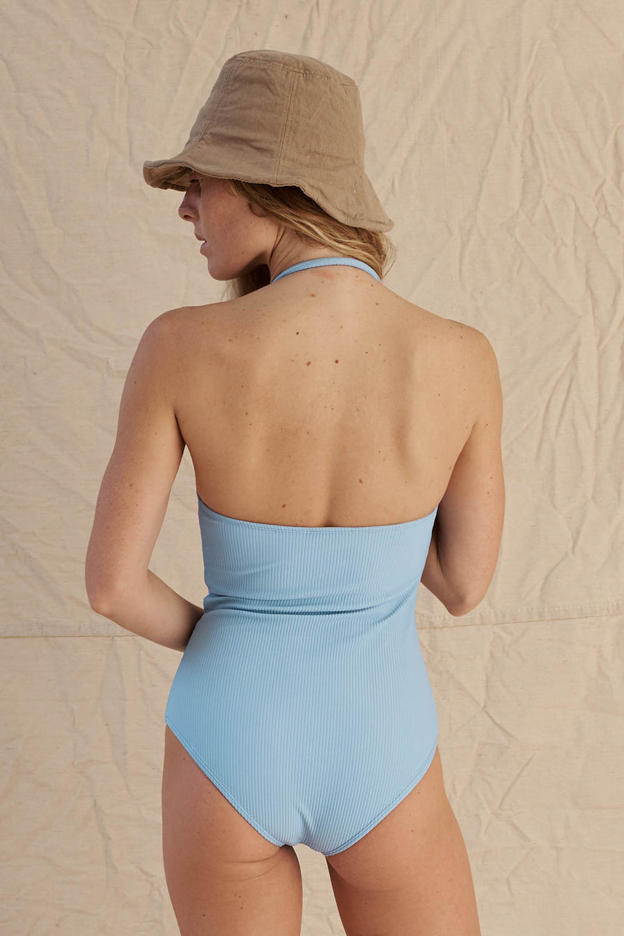 Tube One Piece Sea Blue Rib