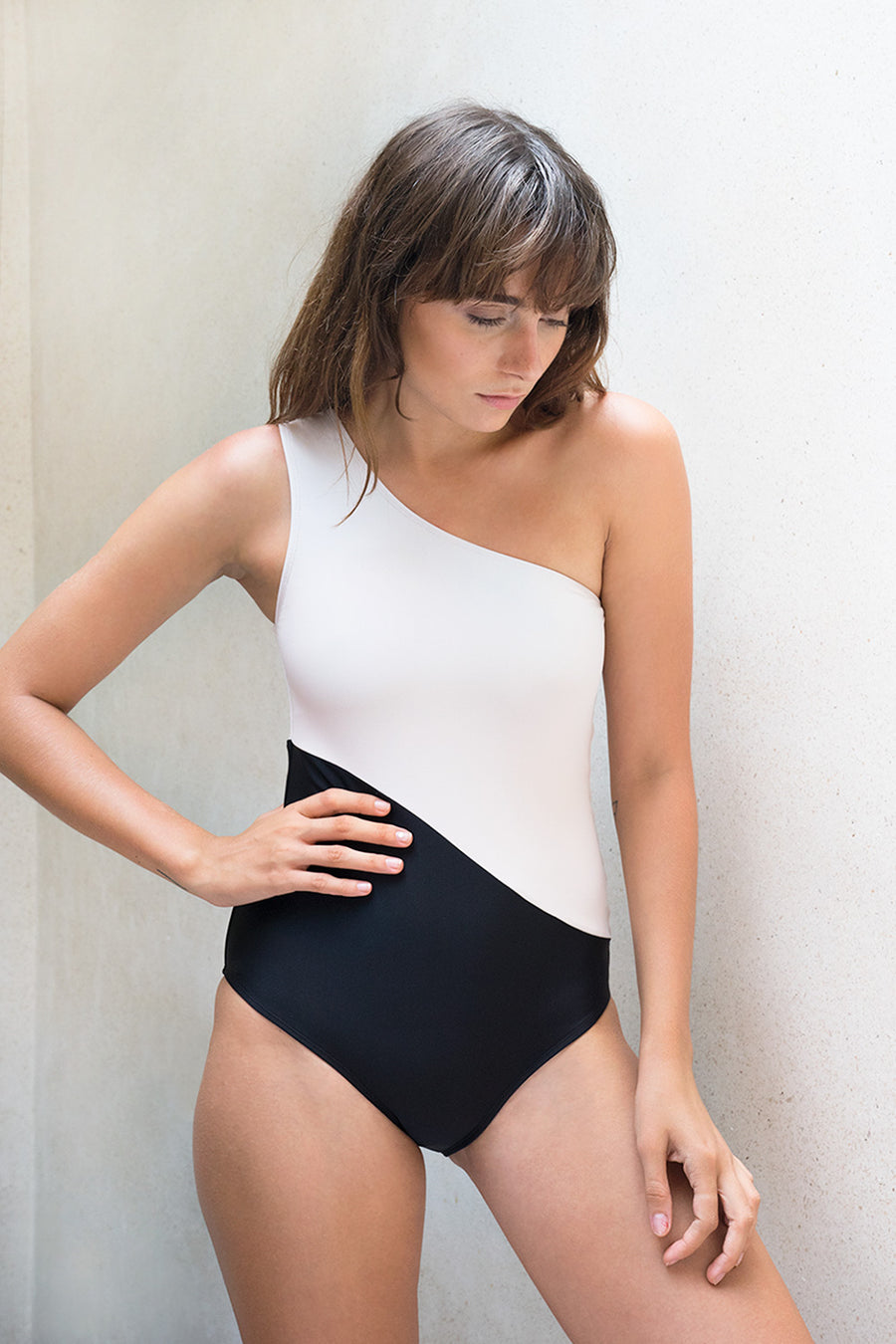 Wave One Piece Blush/Black