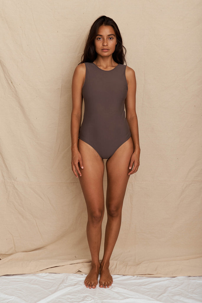 Rose One Piece Dark Taupe