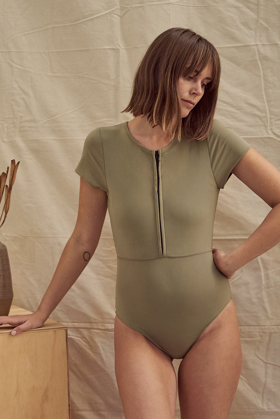 Chacahua Surf Suit Olive