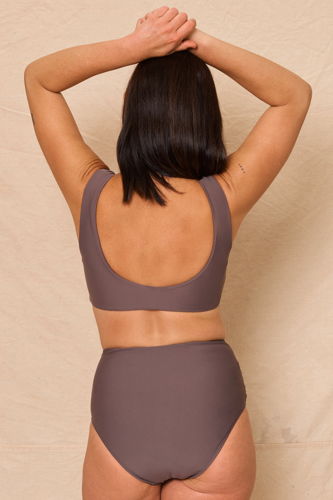 Dune Crop Top Dark Taupe