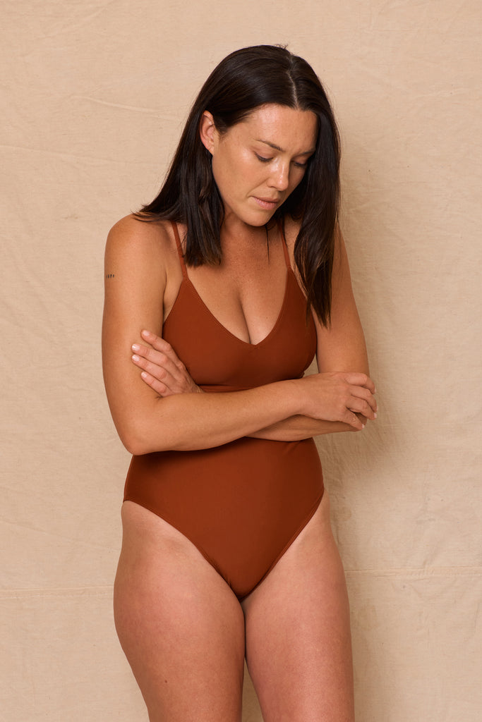 Juniper Maillot Clay