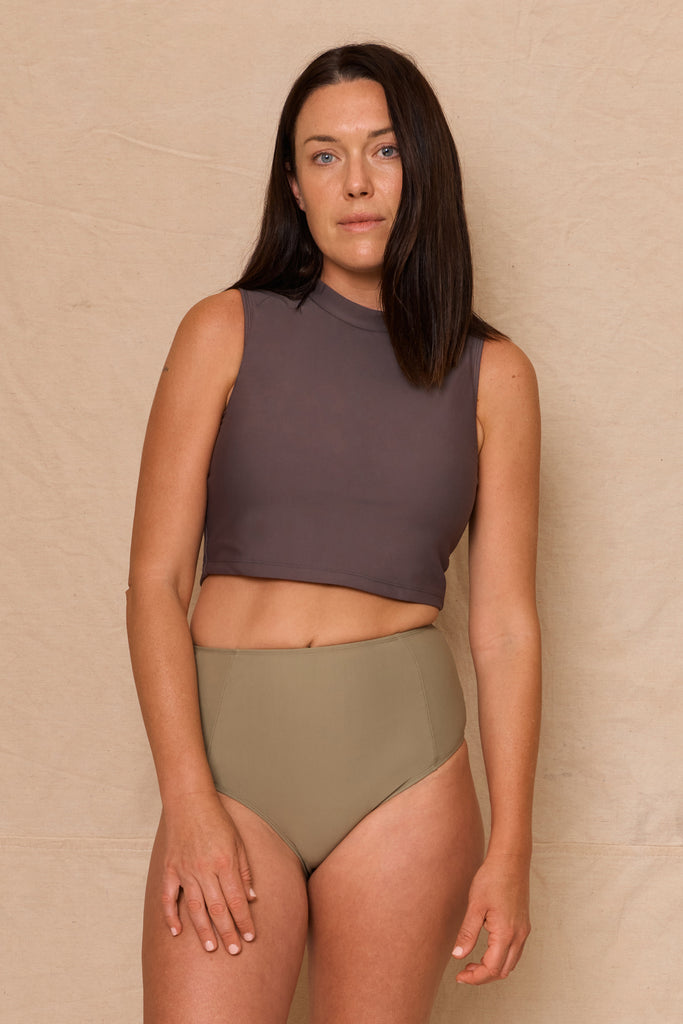 Tallala Top Dark Taupe