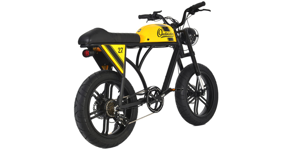 PRE-ORDER | THE OUTSIDER | BLACK+YELLOW | VINTAGE RACER | ELECTRIC BIKE | E BIKE