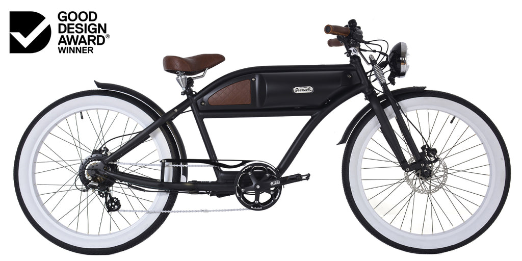 PRE-ORDER | GREASER SPRINGER EDITION | MATTE BLACK | VINTAGE ELECTRIC BIKE | BOARDTRACKER | E BIKE