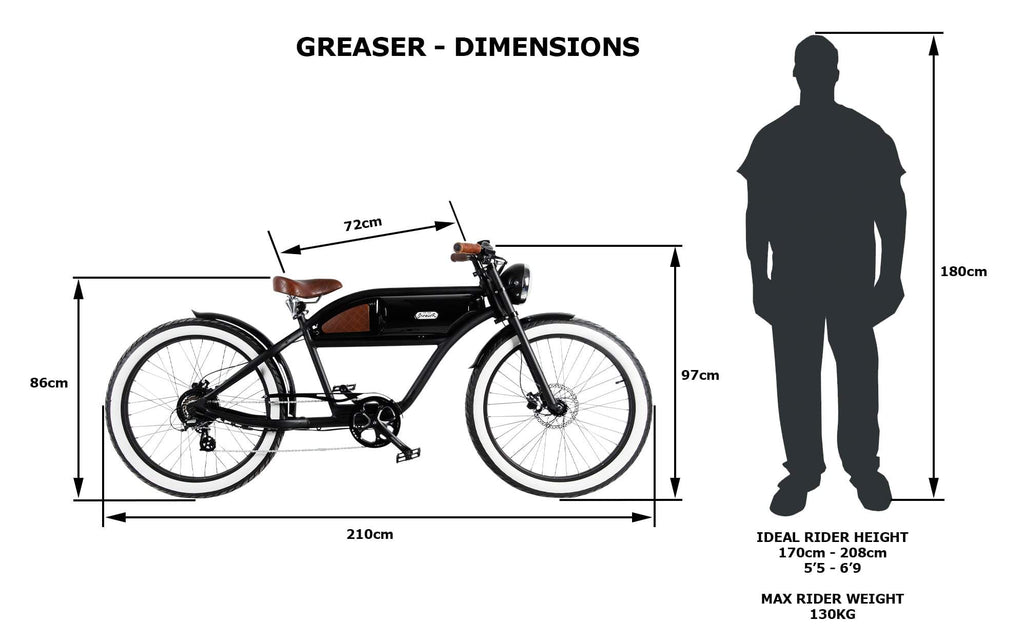 GREEN + BEIGE GREASER E-BIKE