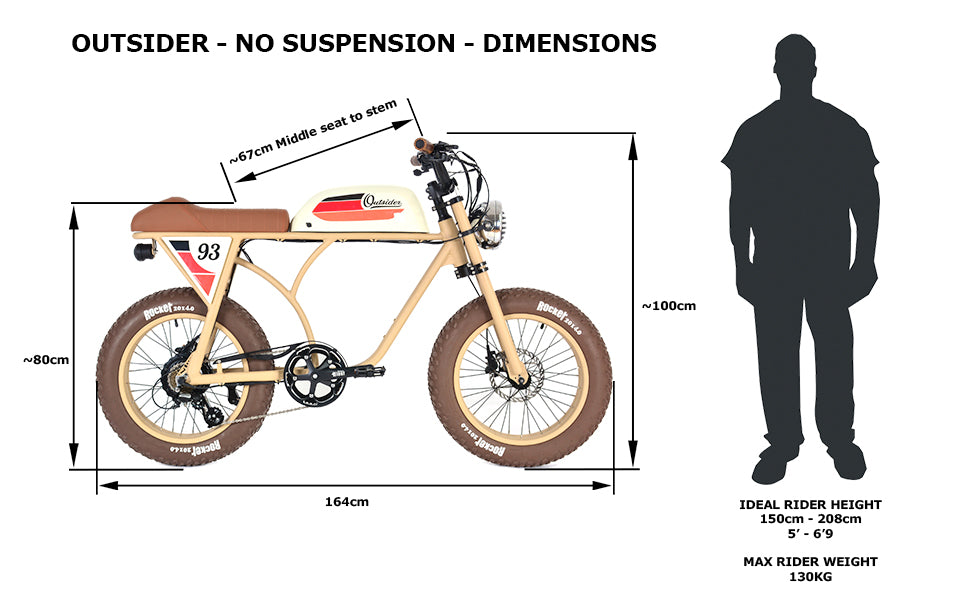 PRE-ORDER | THE OUTSIDER | SAND+BEIGE | VINTAGE RACER | ELECTRIC BIKE | E BIKE