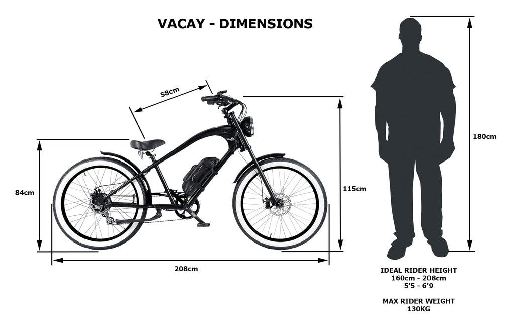 BLACK + BLACK VACAY E-BIKE