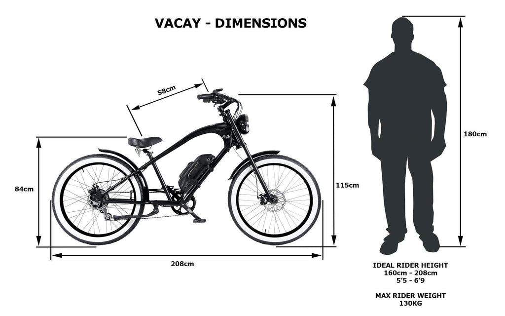 BLACK + GREY VACAY E-BIKE