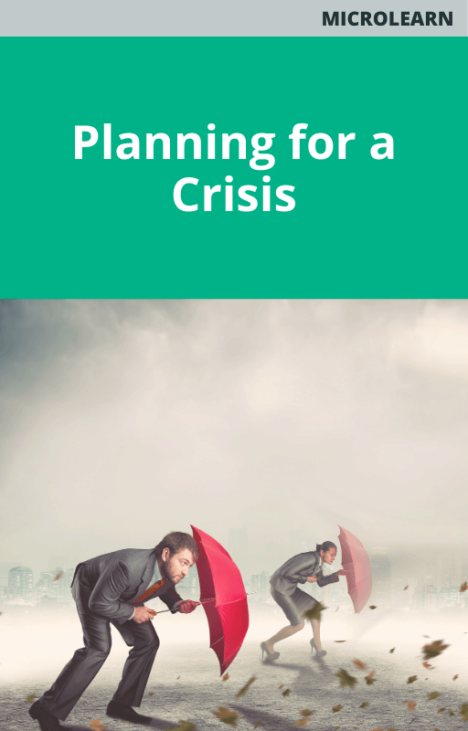 Planning for a Crisis