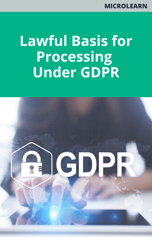Lawful Basis for Processing Under GDPR