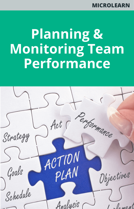 Microlearn Planning and Monitoring Team Performance
