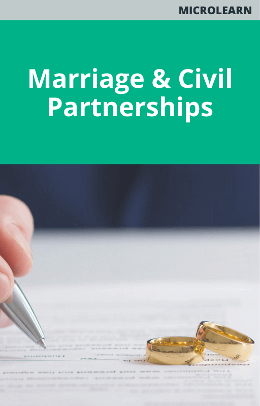 Marriage & Civil Partnerships