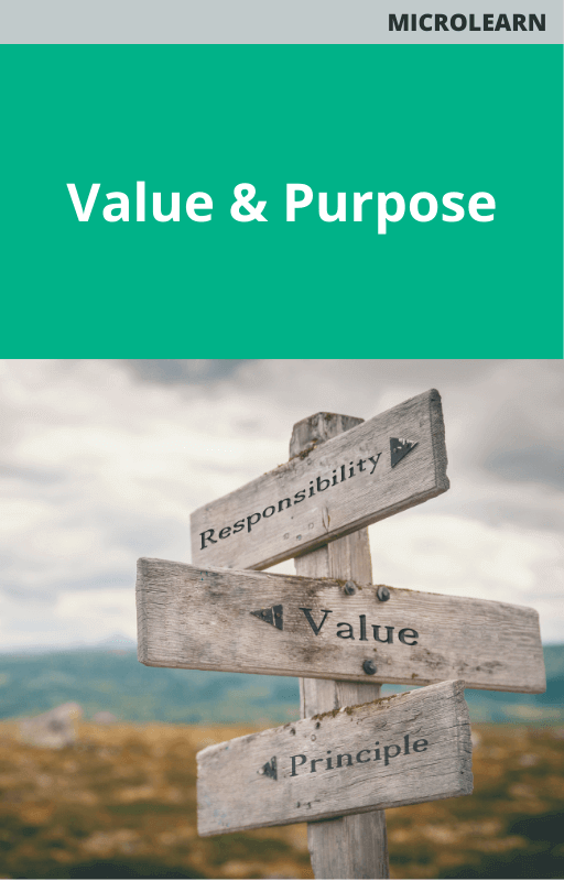 Value and Purpose