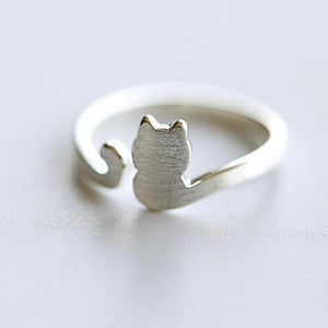 Brushed 925 Sterling Silver Cat tail Midi Ring