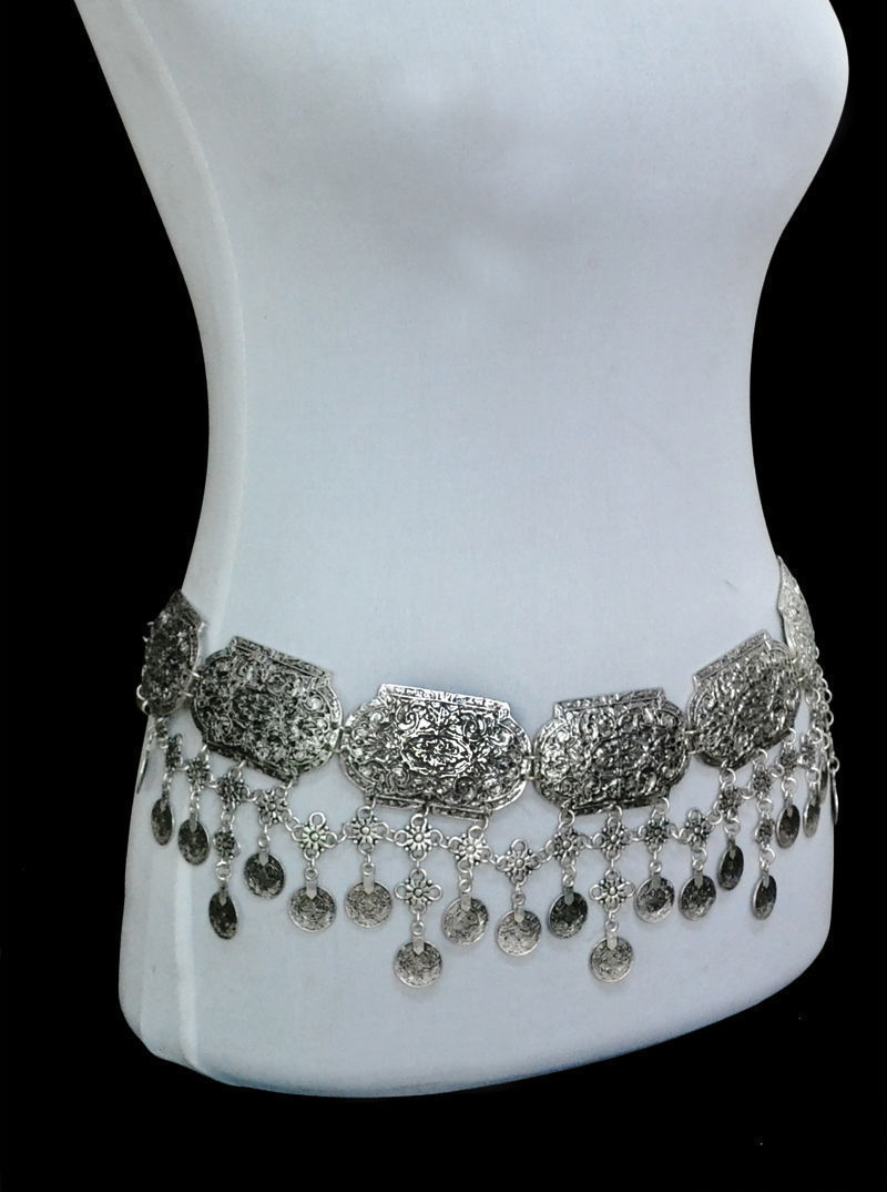 Boho Gypsy Coin Belt Chain Belly Tassel | Festival/Tribal Body Jewellery - Egret Jewellery