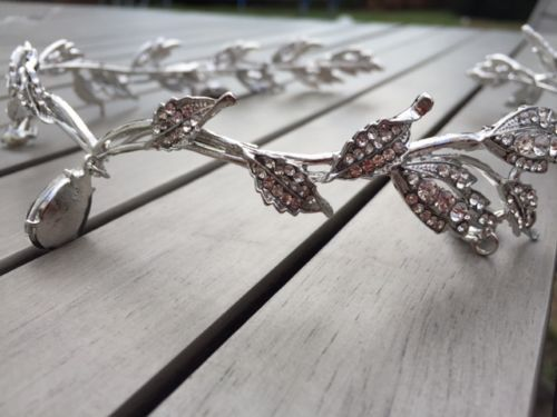 Bridal Tiara Rhinestone Crown | Wedding | Prom Headpiece | Headband - Egret Jewellery