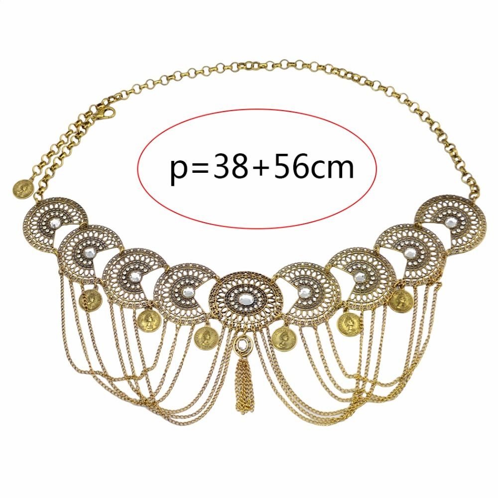 Egret Jewellery UK Boho Gypsy Gold Boho Tassel Belly Belt Body