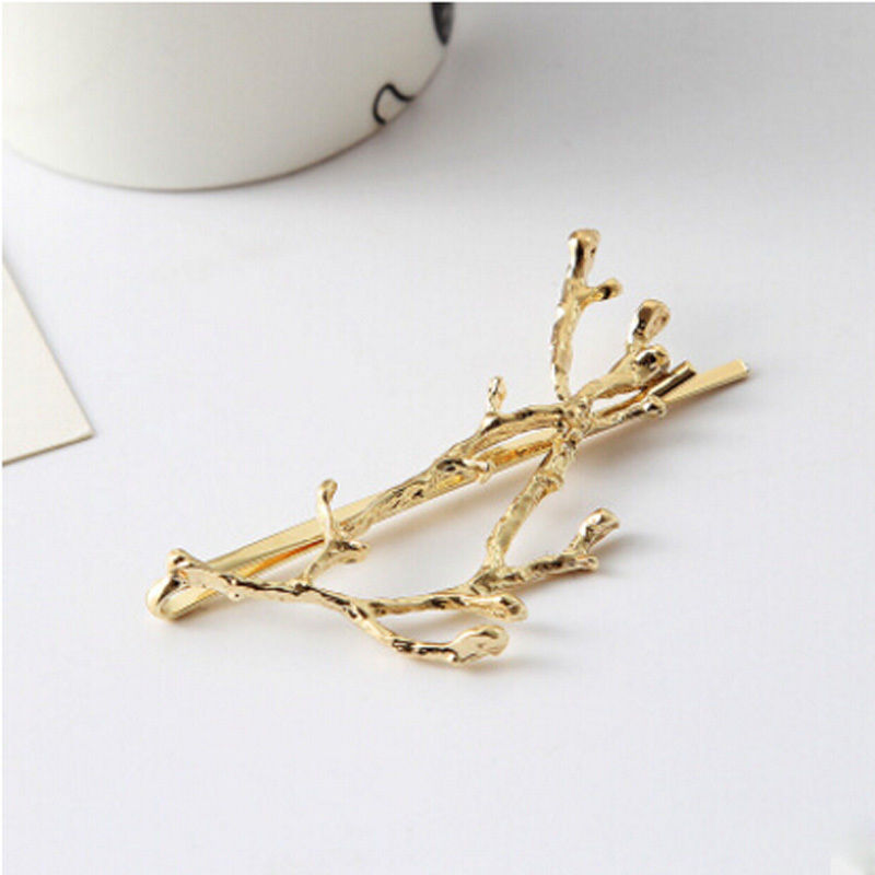 2pcs Branch Hairpin Hair Clip Accessories gold boho