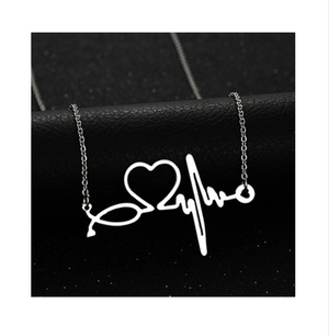 Silver Dipped Nurse | Doctor ECG Stethoscope Heart Beat Necklace