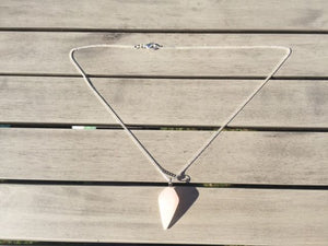 Crystal Healing Chakra Rose Quartz Pendulum Necklace