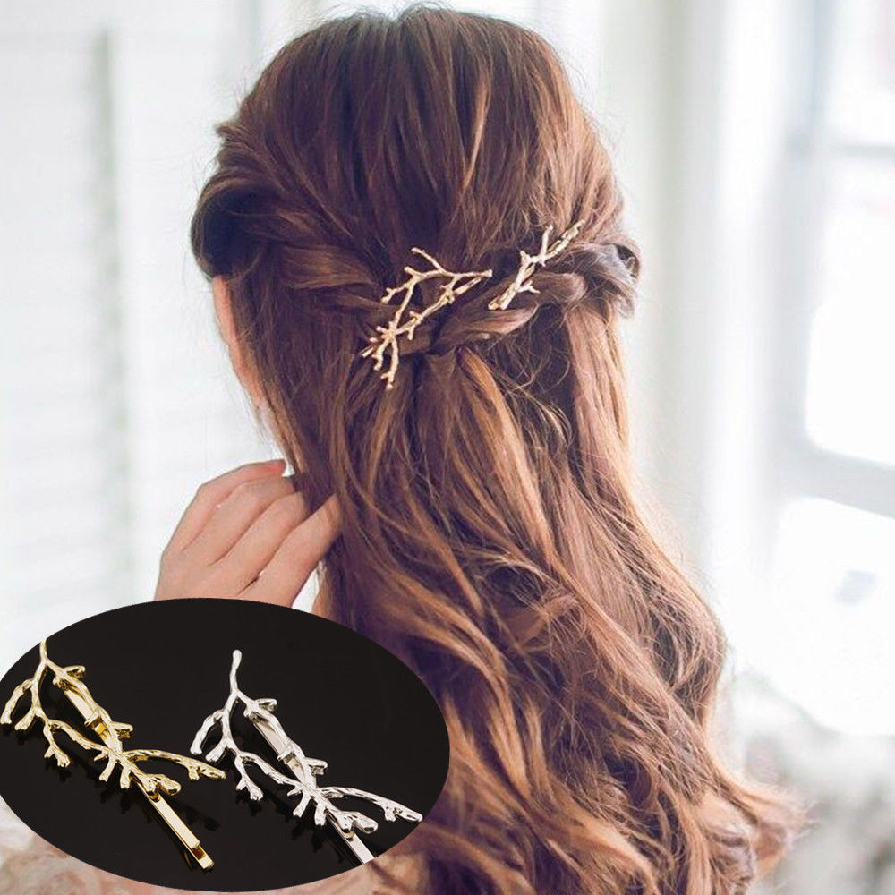 2pcs Branch Hairpin Hair Clip Accessories gold boho - Egret Jewellery