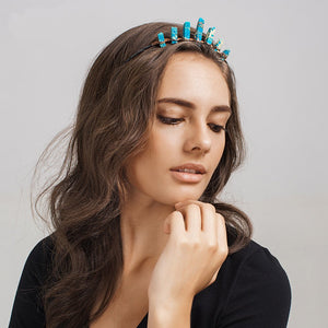 Rough Turquoise Tiara | Natural Mermaid Fairy Crown Headpiece - Egret Jewellery