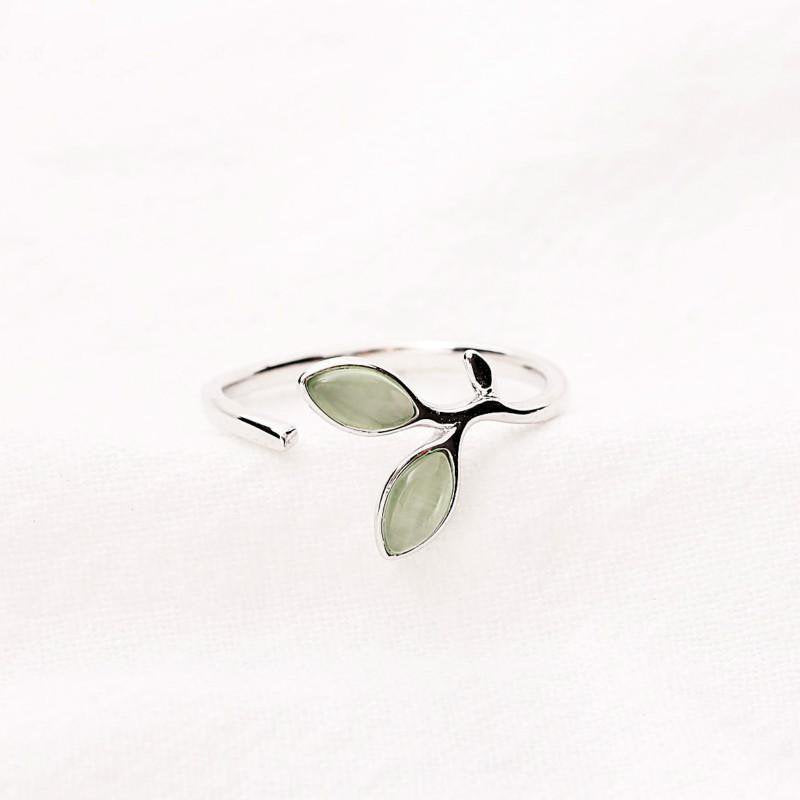 Sterling Silver Adjustable Wrap Leaf Ring - Egret Jewellery