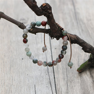 Natural Jasper & Agate Beaded Stone Stacking Bracelet - Egret Jewellery