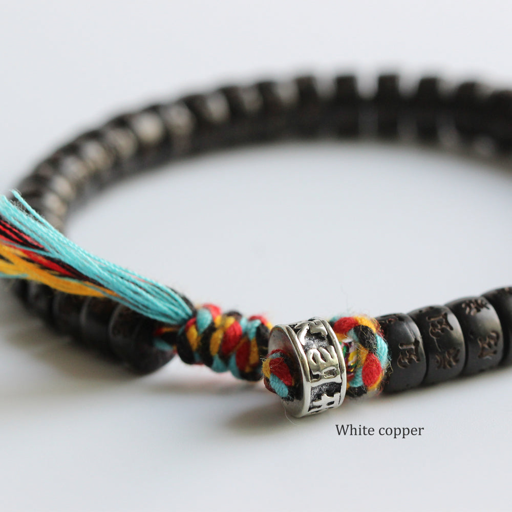 Tibetan Buddhist Hand braided Lucky knots bracelet Men's - Egret Jewellery