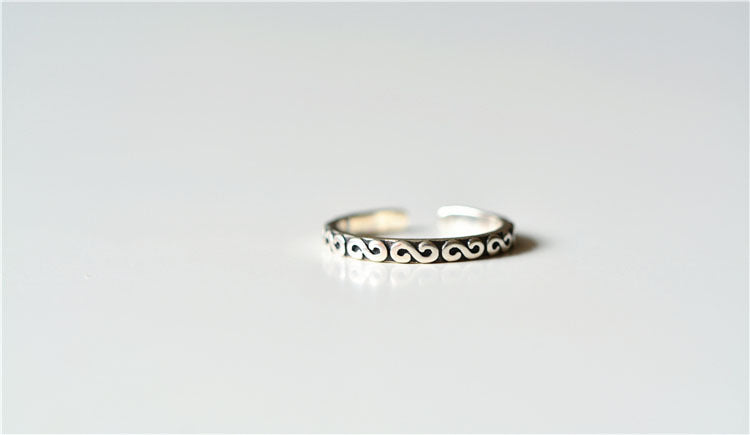 925 Sterling Silver Infinity Layered Adjustable Stacking Ring